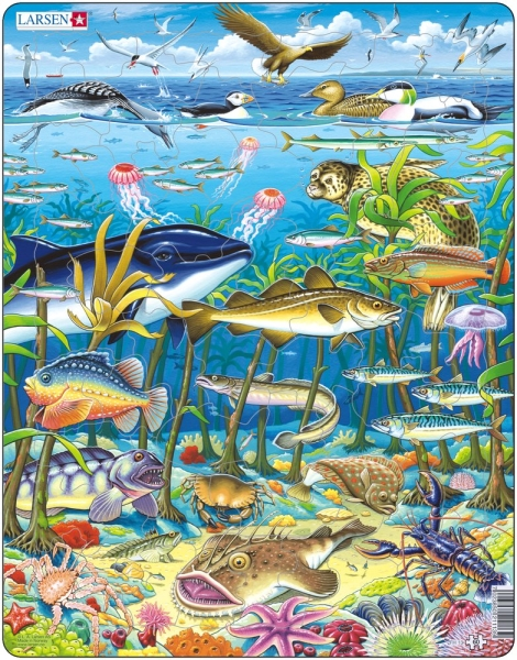 Havsdjur pussel (Larsen)