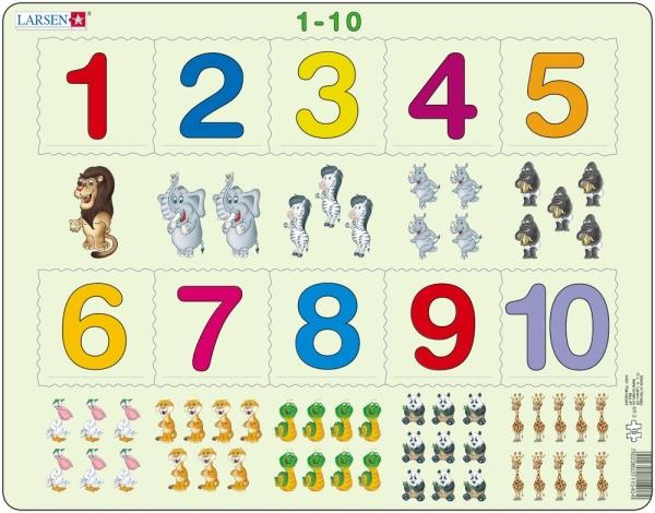 Siffrorna 1 till 10 pussel (Larsen)