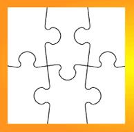 Skapa ditt eget pussel 6 stycken (flera storlekar)