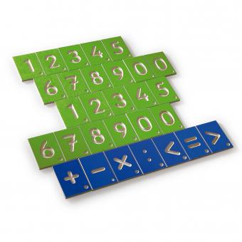 Siffror och räknetecken för skisser (Erzi)