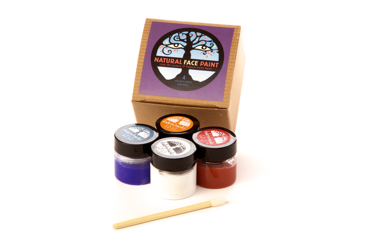 Ekologisk ansiktsfärg 4-pack (Natural earth paint)
