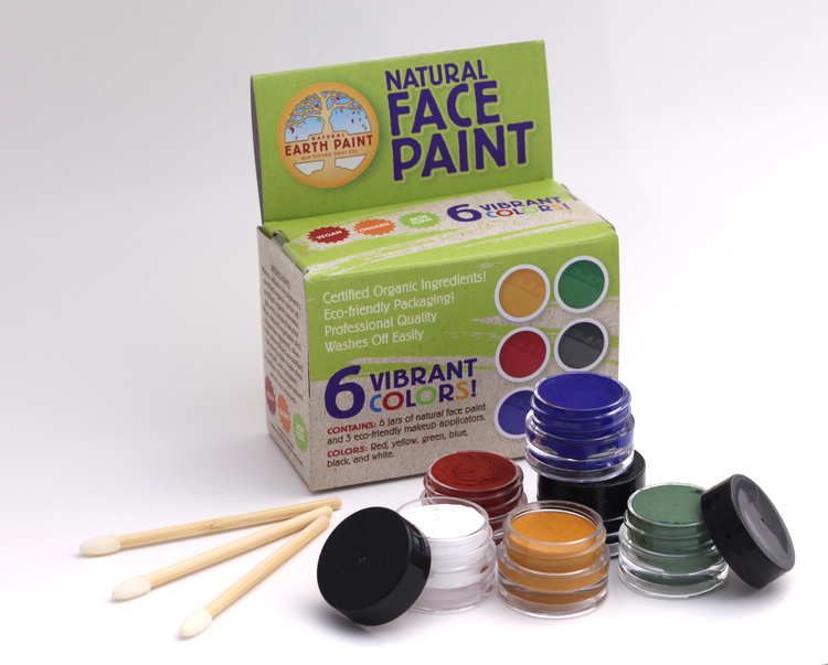 Ekologisk ansiktsfärg 6-pack (Natural earth paint)
