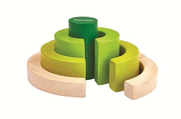 Ekologiska byggklossar cirklar (Plantoys)