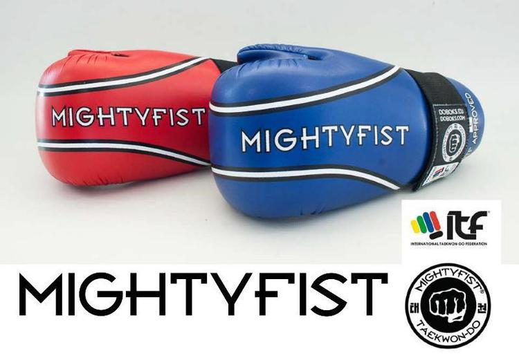 MIGHTY FIST HANDSKYDD PU BLÅ