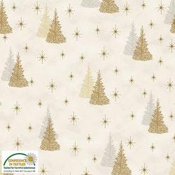 Magic Christmas- hvit med gull juletre