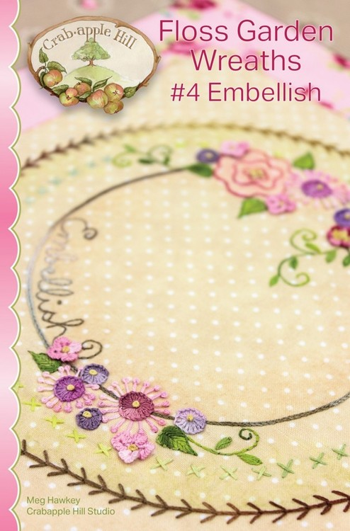 Floss Garden Wreaths- 10 stk mønsterpakke