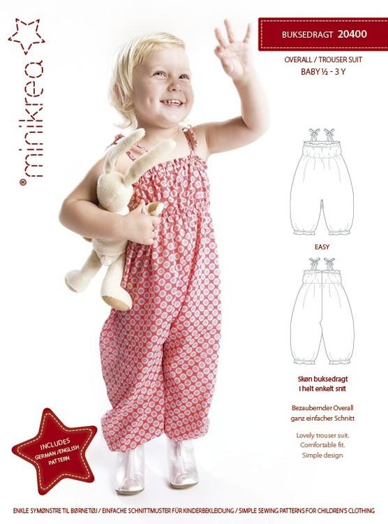 MiniKrea - Buksedrakt  1/2 år- 3 år