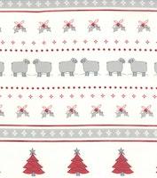 Country christmas- krem med snømann, sau og juletre