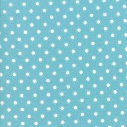 Bloomington - Turkis med hvite prikker
