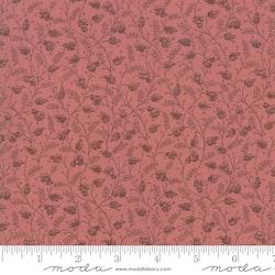 Regency Romance - Lys burgunder med blomster