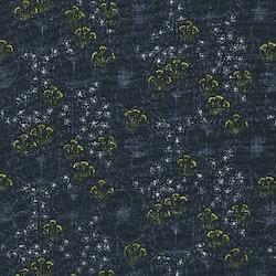 Emilie- Blå med gule/hvite blomter