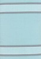 Toweling-turkis med grå striper