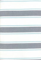 Toweling-grå/hvit med turkis stripe