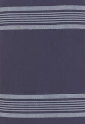 Toweling-blå med hvite striper