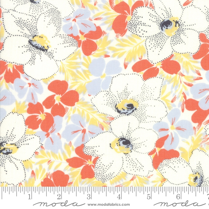 Fine and Sunny- gul og orange blomster