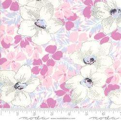 Fine and Sunny- rosa med hvite blomster