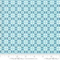 Harpers Garden- Turkis med blå og hvite mønster