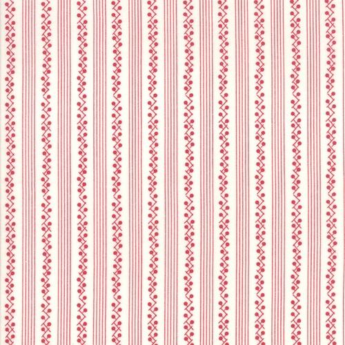 My Redwork Garden- hvit med røde striper