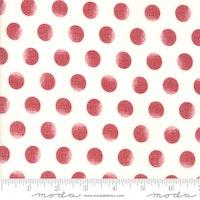 Merry Starts Here-hvit med røde dot