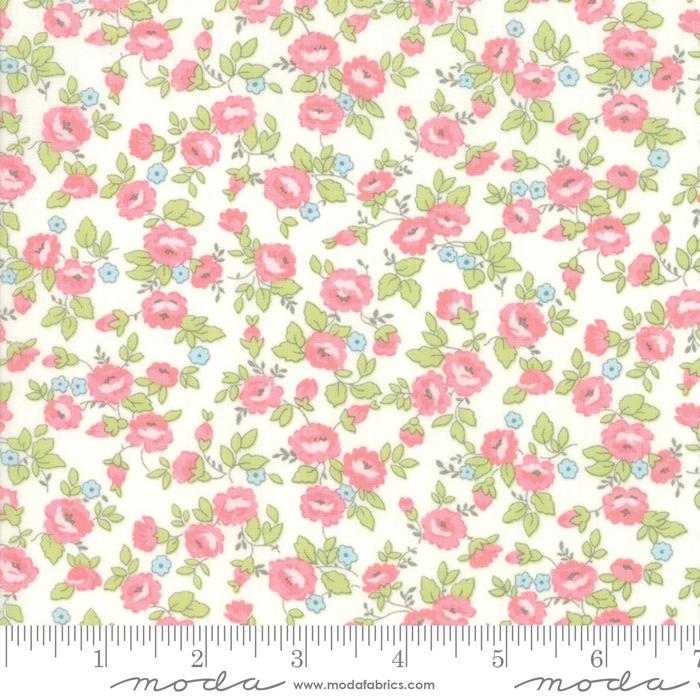 Finnegan Linen - Hvit med blomster