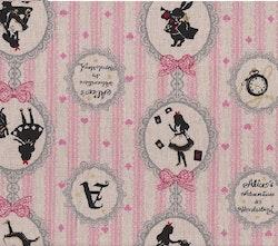 LC Girls Story- naturfarget/rosa lin med Alice in Wonderland