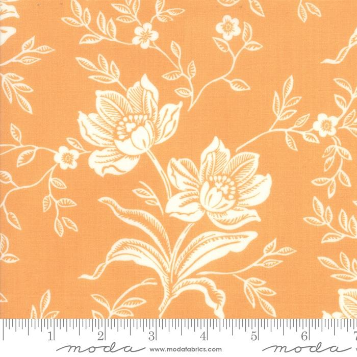 All Hallows Eve-orange med hvite blomster