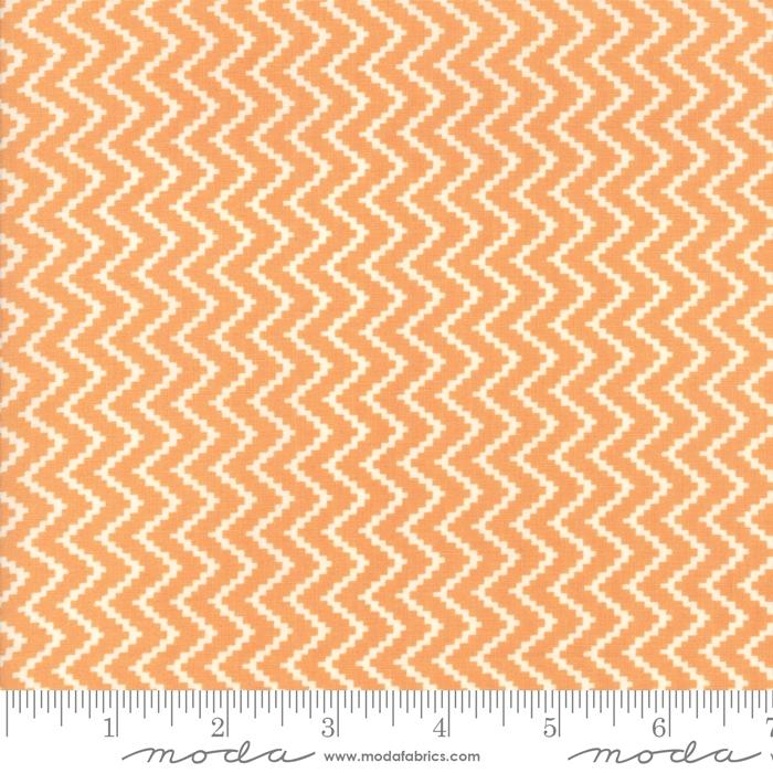 All Hallows Eve-orange med hvite zikk zakk