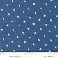 Crystal lake- lys blå med hvite stjerner