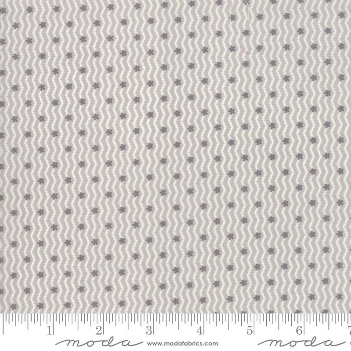 Porcelain Silver- grå bølger med småblomster