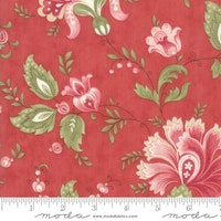 Porcelain Rose- rød med rød/rosa blomster