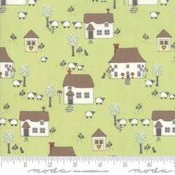 Cottontail Cottage- grønn med hus