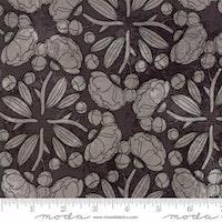 Blushing Peonies- gråsvart blomstret