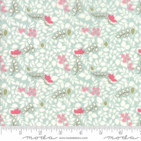 Caroline- lys turkis med hvite og rosa blader