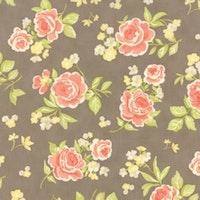 Strawberry Fields Rev-brun med rosa blomster