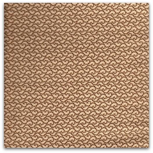 Songbird Gathering- brunt mønster på krembakgrunn