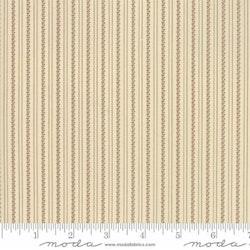 Jo Shirtings-krem med røde stripe mønster