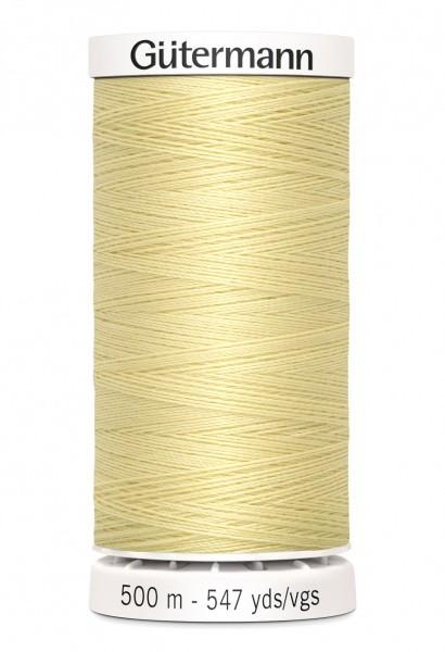 Gutermann col.325 lys gul-500 m
