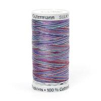 Sulky Gûtermann Cotton 30, 300m,  blå/lilla/grønn flerfarget  bomullstråd