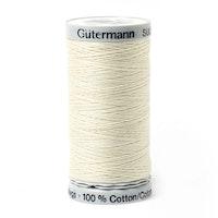 Sulky Gûtermann Cotton 30, 300m,  Hvit bomullstråd