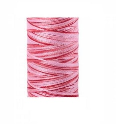 Aurifil - 4668/12 Pink Spotted - flerfarget