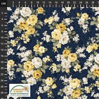 Sofie Rose-Blå med gule roser