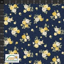 Sofie Rose- Blå med små gule roser