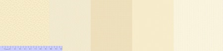 Sew Merry&Bright- 5 stk multi kremfarget stoff