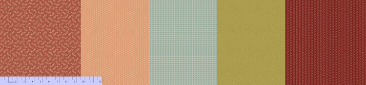 Sew Merry & Bright- 5 stk multipanel farge