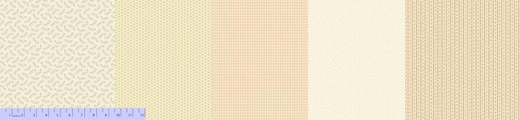 Sew Merry & Bright-5 stk multi farger krem