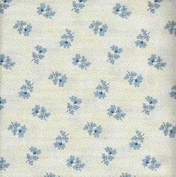 Nippon-kremfarget med blå blomster