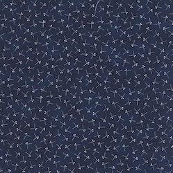 Nippon-Mørk blå med hvitt mønster