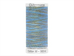 4080  Sulky Gûtermann Cotton 30, 300m, blå flerfarget