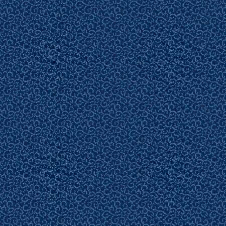 Navy Crescent Swirl
