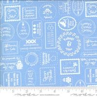 Spring Brook Bluebonnet-lys blå med skrift